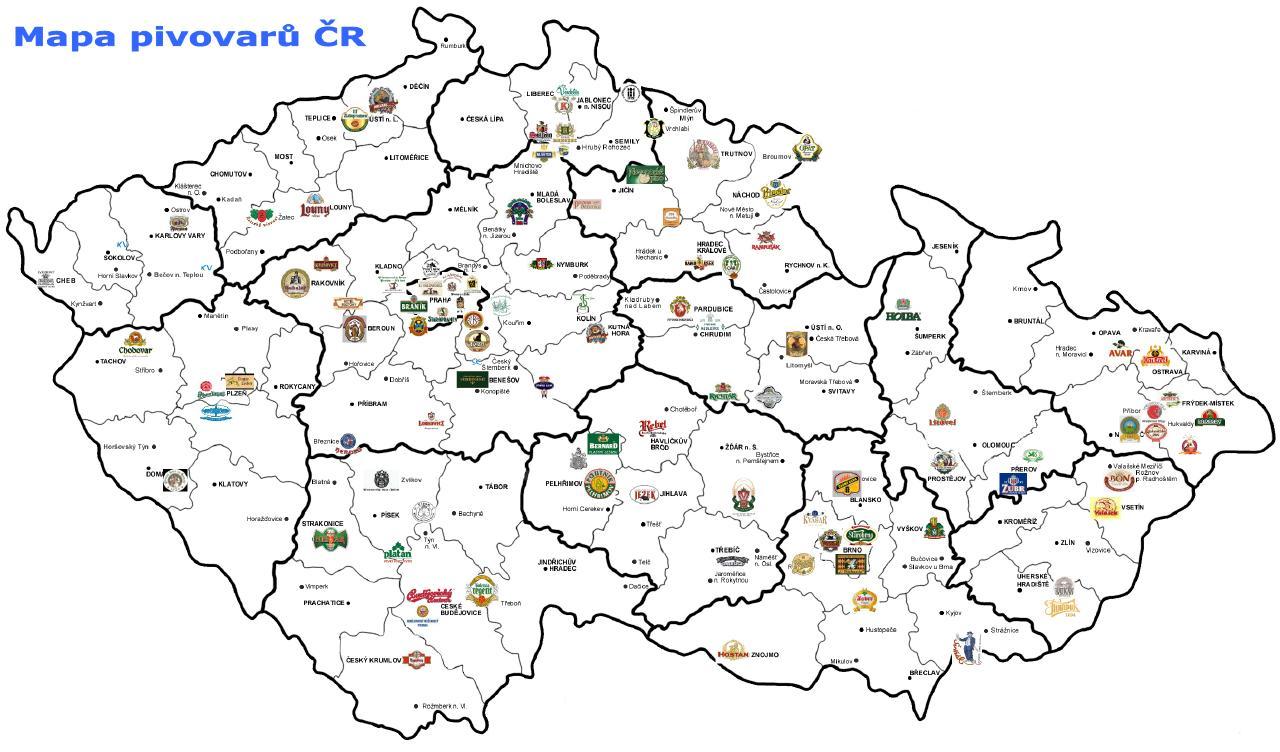 kromeriż czechy mapa
